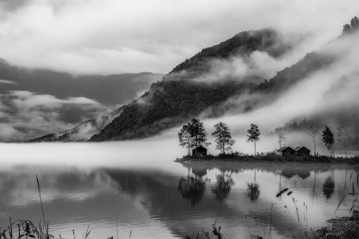 Morgenstimmung / morning mood (Norwegen - Norway) b&w132