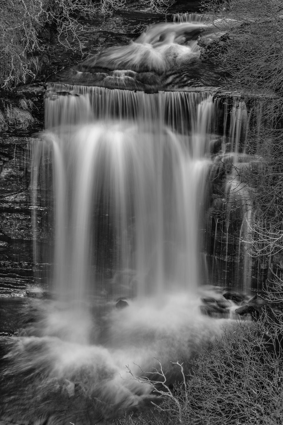 Wasserfall / water fall (Isle of Skye / Schottland - Scotland) b&w182